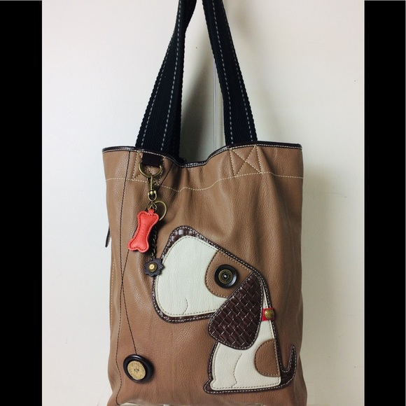 8e94090ea5a6 Chala Faux Leather Everyday Tote Bag Cute Dog